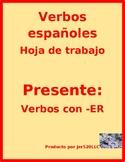 ER Verbs in Spanish Verbos ER Worksheet 2