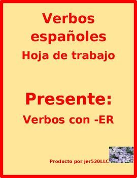 ER verbs in Spanish worksheet 2