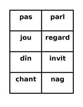ER Verbs in French Verbes ER Present tense Sentence Builder activity