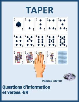 Questions d'information ER verbs present tense slapjack game