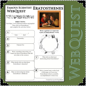 ERATOSTHENES Science WebQuest Scientist Research Project Biography Notes