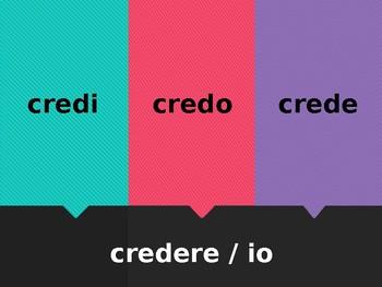 ERE Verbs in Italian Verbi ERE Scacciamosche Flyswatter game