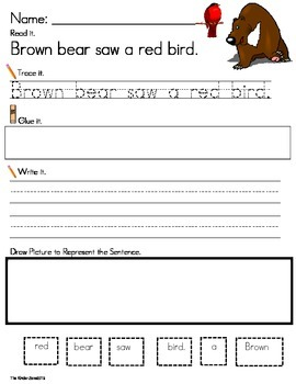 ERIC CARLE AUTHOR STUDY * SENTENCE BUILDING *READ.TRACE.BUILD & WRITE!