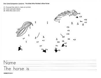 ERIC CARLE Companion Activities for THE ARTIST WHO PAINTED a BLUE HORSE