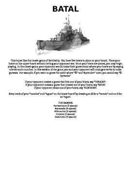 ER/IR Verb Battleship