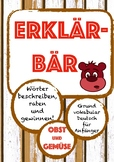 ERKLÄRBÄR-Spiel: Obst & Gemüse, Deutsch/German fruits & vegetables game, speak