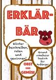 ERKLÄRBÄR-Spiel: Obst & Gemüse, Deutsch/German fruits & ve