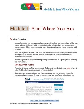ERO - Financial Literacy Training - 01 Start Where You Are - Instructor's Manual