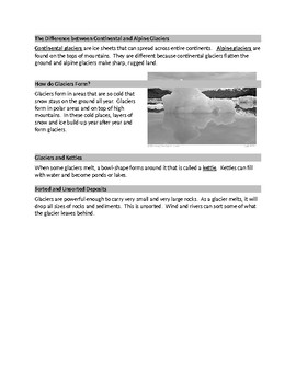 EROSION & DEPOSITION BY ICE FOR ELLs and SPED