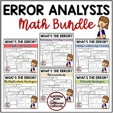 ERROR ANALYSIS BUNDLE with Word Problems for Upper Elementary