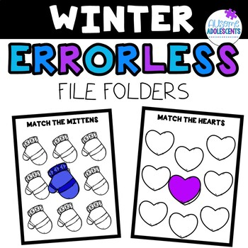 ERRORLESS File Folders- WINTER (special education/autism/early education)