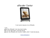 EReader Center sign