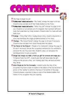 ES1 - 'Our Needs' COGs Workbook