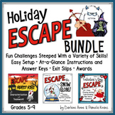 HOLIDAY ESCAPE ROOM BUNDLE: SNOW GLOBE, VALENTINE'S DAY, AND HALLOWEEN