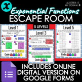 ESCAPE ROOM ACTIVITY - Exponential Functions - DISTANCE LEARNING