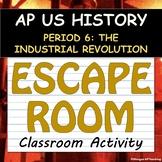 ESCAPE ROOM! Activity - AP US History (APUSH) - Period 6 - Industrial Society