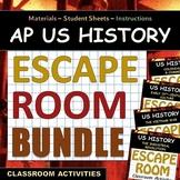 ESCAPE ROOM BUNDLE - AP US History (APUSH) - Periods 1, 4, 6 & 8!