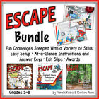 ESCAPE ROOM BUNDLE: ESCAPE THE SCHOOL, FOREST, & PLANET