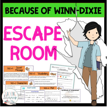 ESCAPE ROOM - Because of Winn-Dixie by K. DiCamillo - Interactive Novel Activity