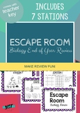 ESCAPE ROOM: Biology Review (Excellent for End of Course)