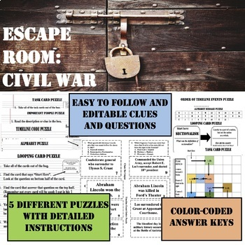 ESCAPE ROOM----CIVIL WAR