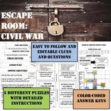 ESCAPE ROOM----CIVIL WAR