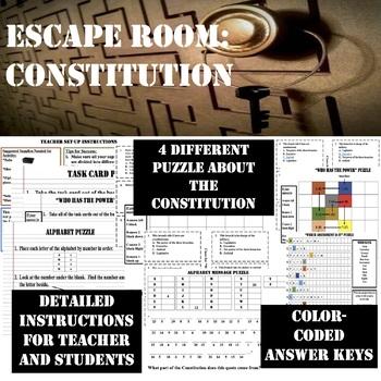 ESCAPE ROOM---CONSTITUTION