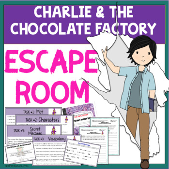 ESCAPE ROOM - Chocolate & the Chocolate Factory - Fun Interactive Novel Activity