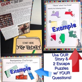 ESCAPE ROOM EDITABLE FOR ANY SUBJECT/TOPIC
