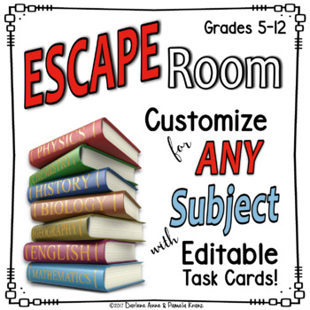 ESCAPE ROOM EDITABLE for Any Topic