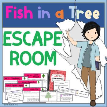 ESCAPE ROOM - Fish in a Tree by Lynda Hunt - Fun Interactive Novel Activity!