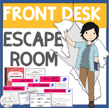 ESCAPE ROOM - Front Desk by Kelly Yang - Fun Interactive Novel Activity!