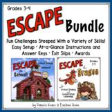 ESCAPE ROOM GRADES 3-4 ELA SCHOOL & DRAGON BUNDLE