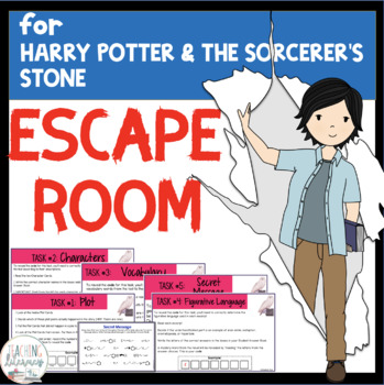 ESCAPE ROOM- Harry Potter & the Sorcerer's Stone -Fun Interactive Novel Activity