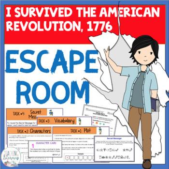 ESCAPE ROOM- I Survived the American Revolution, 1776-Interactive Novel Activity