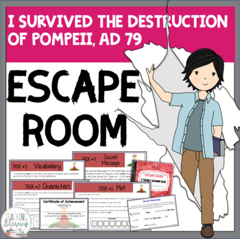 ESCAPE ROOM- I Survived the Destruction of Pompeii - Interactive Novel Activity