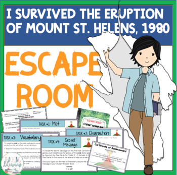 ESCAPE ROOM for I Survived the Eruption of Mt. St.Helens, 1980 by Lauren Tarshis