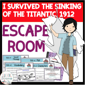 ESCAPE ROOM- I Survived the Sinking of the Titanic,1912-Fun Interactive Activity