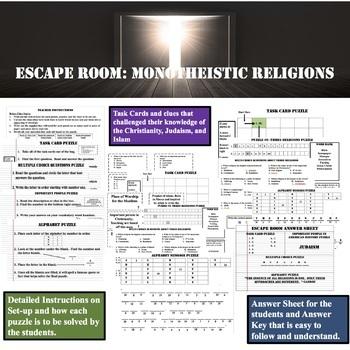 ESCAPE ROOM-----MONOTHEISTIC RELIGIONS
