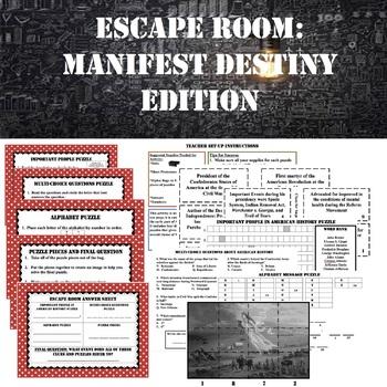 ESCAPE ROOM: Manifest Destiny--TEST PREP
