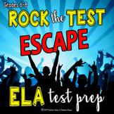 ESCAPE ROOM Middle School ELA Test Prep Activity Rock the Test