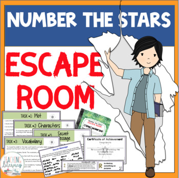 ESCAPE ROOM - Number the Stars by Lois Lowry - Interactive Novel Study Activity
