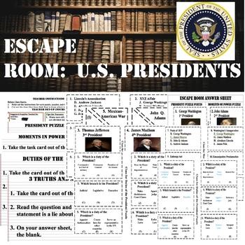 ESCAPE ROOM---PRESIDENTS