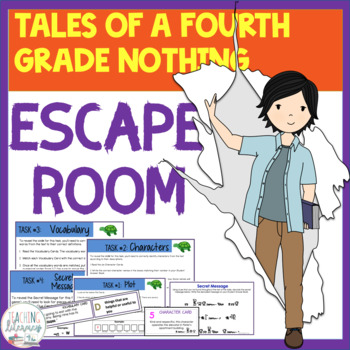 ESCAPE ROOM- Tales of a Fourth Grade Nothing - Interactive Novel Activity