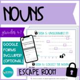 ESCAPE ROOM - Types of Nouns