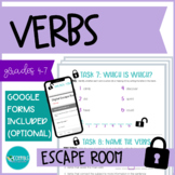 ESCAPE ROOM - Types of Verbs