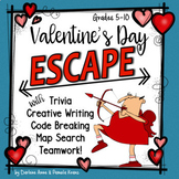 Valentine's Day ESCAPE ROOM: Writing, Trivia, & Puzzles