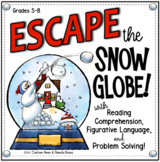 ESCAPE ROOM WINTER: READING COMPREHENSION, FIGURATIVE LANGUAGE, & PUZZLES