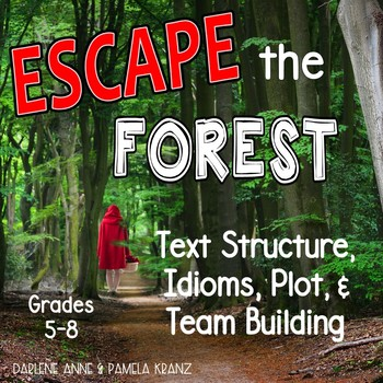ESCAPE THE FOREST! TEXT STRUCTURE, PLOT, IDIOMS & PEMDAS BREAKOUT ACTIVITY