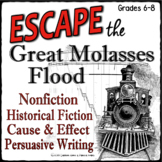 ESCAPE ROOM Nonfiction- Cause and Effect, Historical, Pers